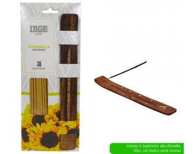 Incenso Citronella 30pz con base legno